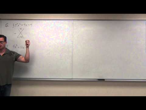 Intermediate Algebra Lecture 6.4:  Factoring Polynomials (Trinomials) in General