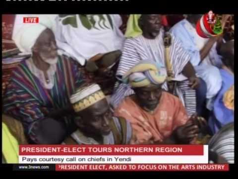 President elect Nana Addo pays courtesy call on chiefs in Yendi  - 24/12/2016