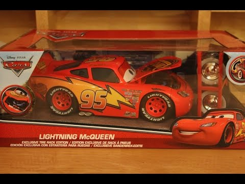 Jada Lightning McQueen with Opening Hood & Tire Rack 1/24 Scale