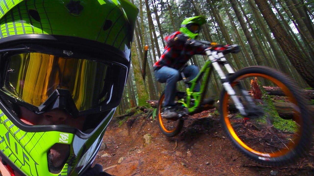 Downhill Freeride Forest Winter Shredding Youtube