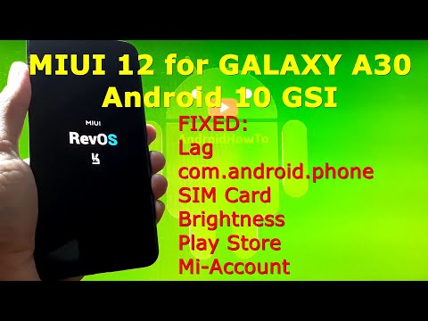 MIUI 12 Android 10 for Samsung Galaxy A30
