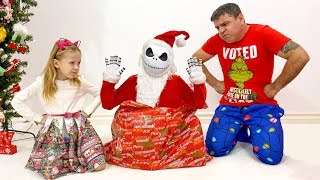 Nastya and dad are preparing for the Christmas