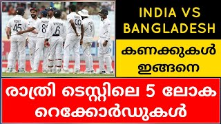 5 WORLD RECORDS IN DAY-NIGHT TESTS | INDIA VS BANGLADESH | CRICKET NEWS MALAYALAM