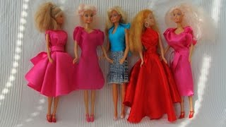 5 NO-Sew doll dresses (Barbie, Monster High)