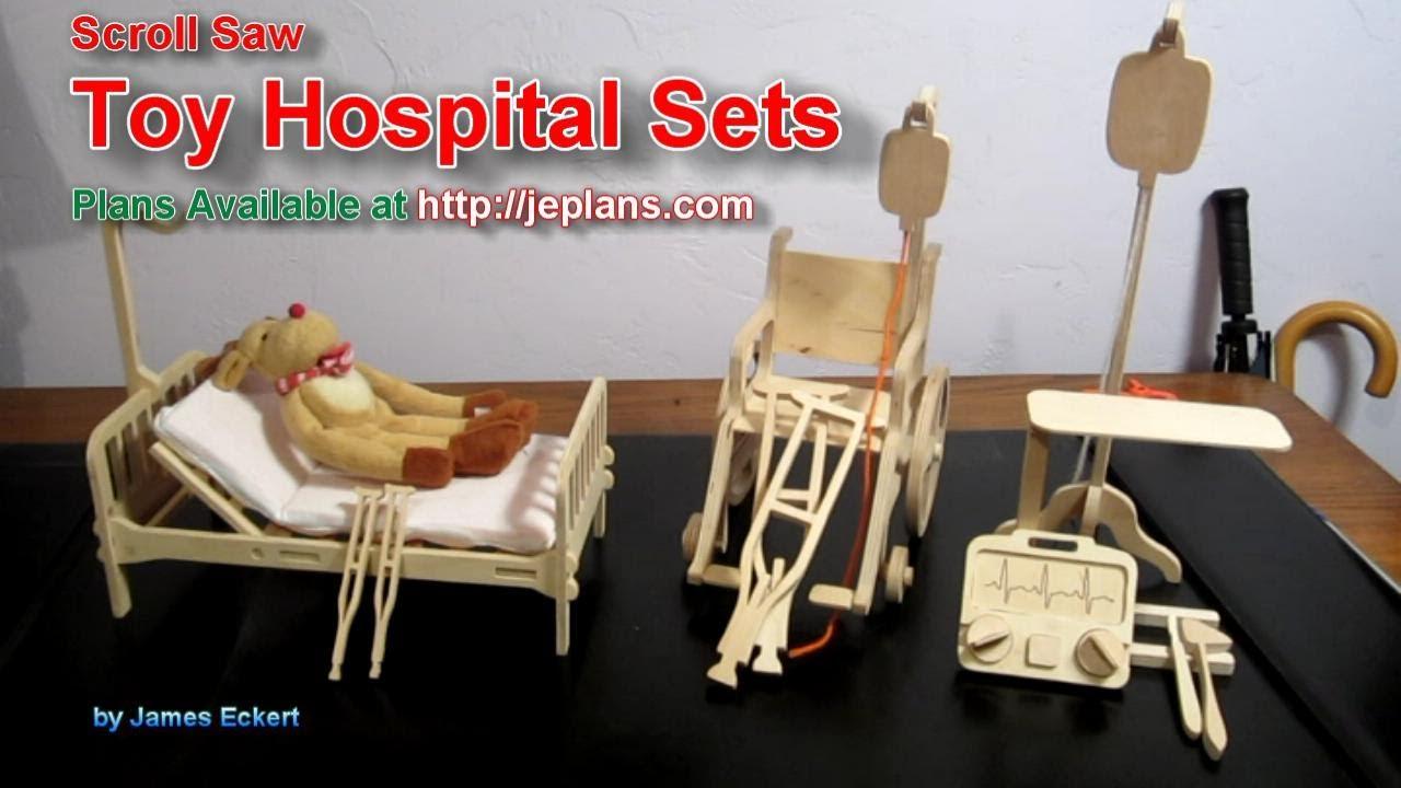 scroll saw toy hospital sets