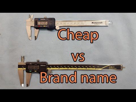 Digital caliper comparison - Mitutoyo Brand name VS Cheap Brand