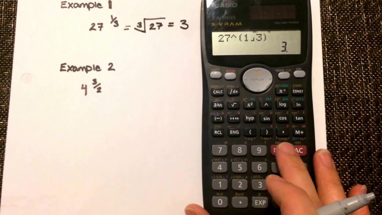 Fraction Exponents : Calculating values where the exponent ...