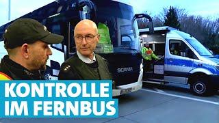 Wie die Polizei Fernbusse kontrolliert
