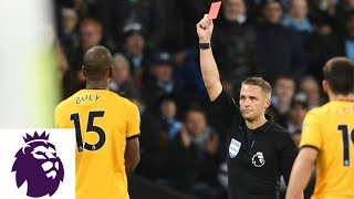 Willy Boly receives red card for sliding tackle against Man City | Premier League | NBC Sports