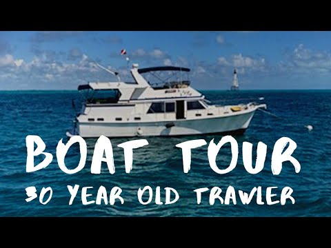 New Boat Name & Full Tour Of Our New Home! || Boat Renaming || Marine Trader 47 Tradewinds