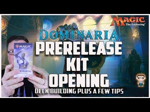 Dominaria Prerelease Kit Opening - Deck Building Plus Tips