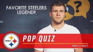T.J. Watt Answers Rapid Fire Questions   Pittsburgh Steelers Pop Quiz