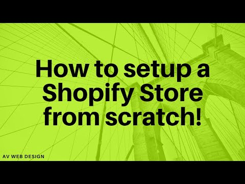 How to set up a shopify store from scratch thumbnail