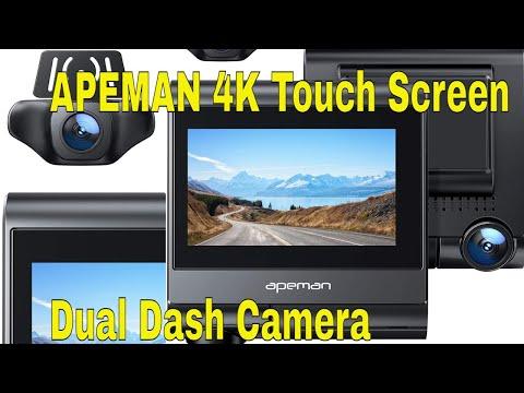 APEMAN 4K Touch Screen Dual Dash Camera Instillation