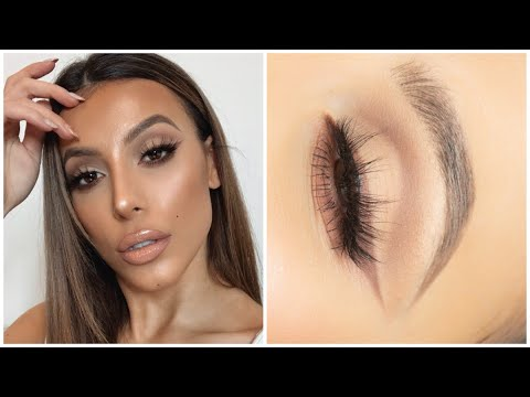 nude neutral soft cut crease makeup tutorial  youtube