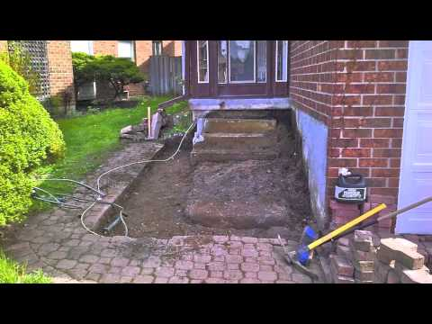 How To Interlock Stone Front Entrance Steps Youtube
