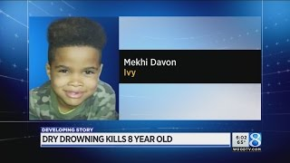 Boy, 8, dies after being found at bottom of pool