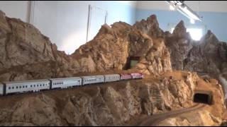 Australian HO train The Ghan on the CMRS layout 28sep16