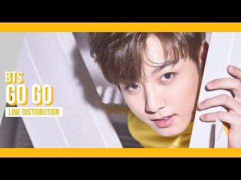 BTS - Go Go Line Distribution (Color Coded) | 방탄소년단 - 고민보다 Go