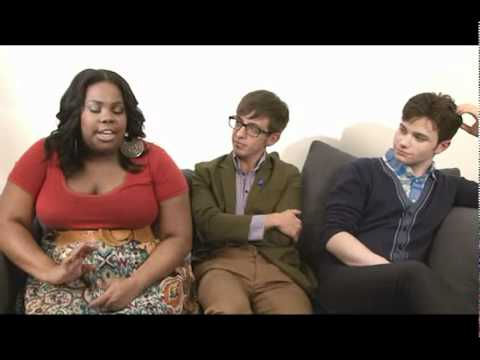 When E4 met Amber Riley, Kevin McHale and Chris Colfer (Part 1)