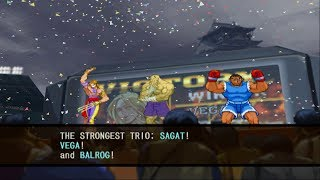 Capcom vs. SNK 2: Mark of the Millennium 2001 - Sagat/Vega/Balrog - Arcade Mode Playthrough