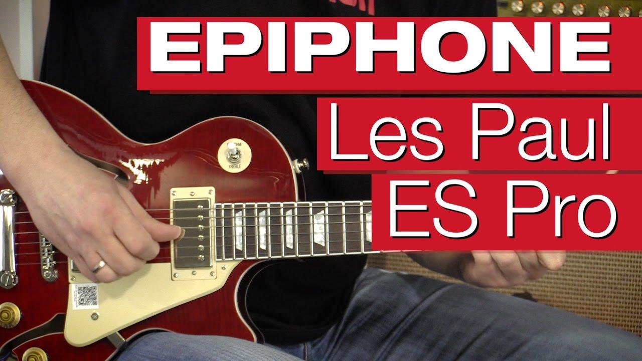 Epiphone Les Paul Es Pro Was Kann Die Pro Version Youtube