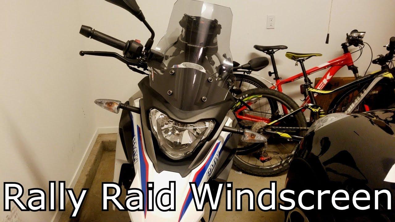 BMW G310 GS Rally Raid Windscreen Installed