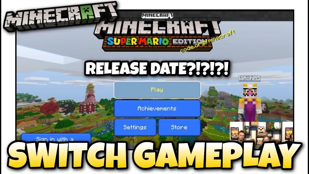 Minecraft Switch Bedrock Gameplay Release Date Features