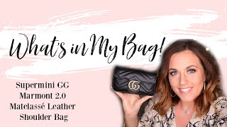 WHAT'S IN MY BAG | GUCCI SUPERMINI GG MARMONT