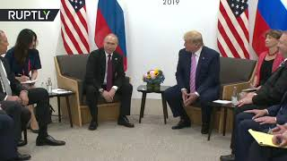 Putin & Trump meet at G20 summit in Osaka