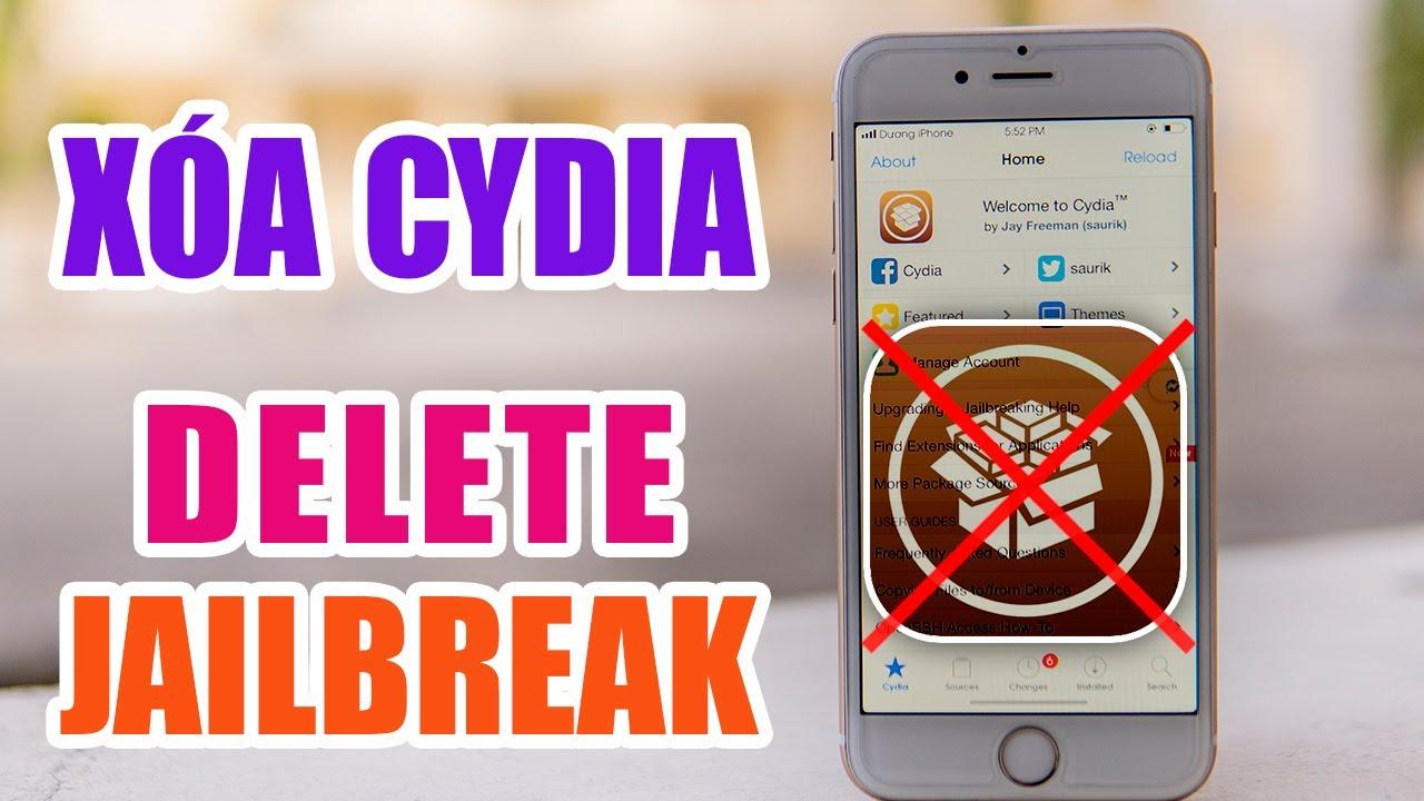 Xóa Cydia – Delete Jailbreak – Dương iPhone