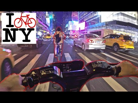 Braving New York City Traffic  ON BIKES!