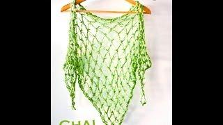 Tutorial Punto Salomón (crochet) y aprende a hacer un chal