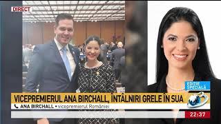 Punctul de întâlnire. Vicepremierul Ana Birchall, întâlniri grele în SUA