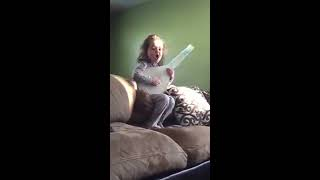Adele Hello song covered by my 3 year old daughter, Kimber