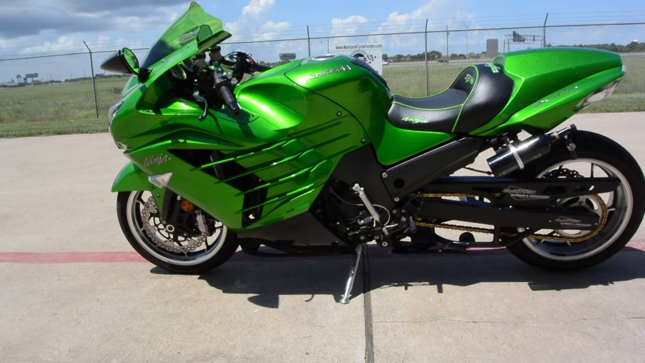 For Sale $11,499: Pre Owned 2013 Kawasaki ZX14R Drag Racer - YouTube