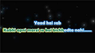 Yaad Hai - Aiyaari - Karaoke with Lyrics - With Female Vocals.
