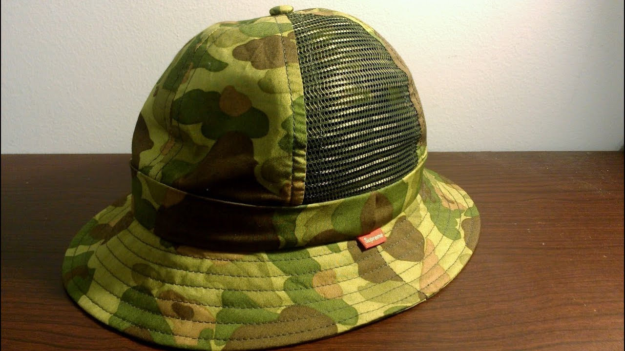 a255c9ac0fa Supreme Side Mesh Camo Bell Hat Review Spring Summer 2012 - YouTube