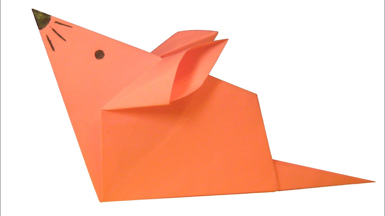 How To Make Origami Mouse - YouTube