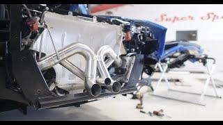 BRE - Lamborghini Aventador S - Inconel rear X pipe exhaust system