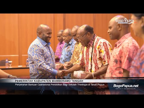 Pemkab Mamteng | Penyerahan Bantuan Operasional Pendidikan bagi Sekolah Theologia di Tanah Papua