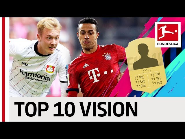 Thiago, Brandt, Reus & More - EA SPORTS FIFA 19 - Top 10 Vision