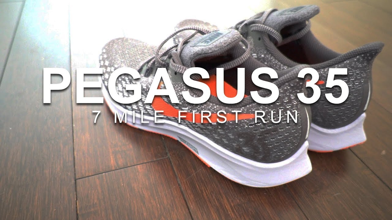 75ddb29c3 NIKE ZOOM PEGASUS 35 - 7 MILE FIRST RUN - YouTube