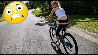 Teaching my girlfriend how to ride a Mountain Bike!