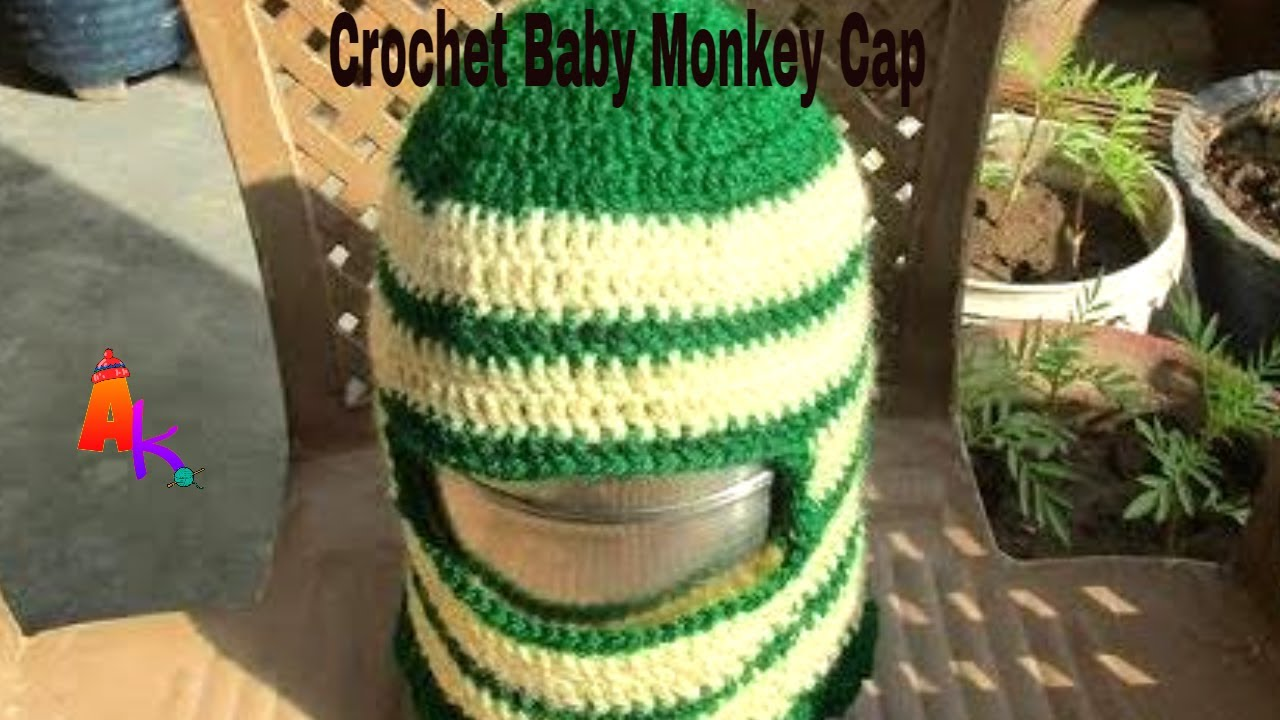 b2da37dabd71 Crochet Baby Cap Monkey cap Hindi - YouTube