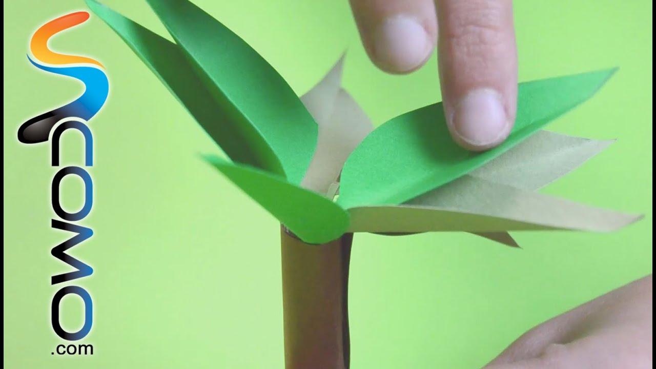 Hacer un árbol de papel para niños - YouTube