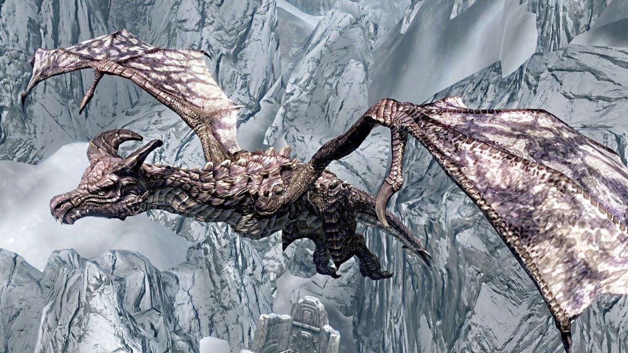 SKYRIM Special Edition: LEGENDARY DRAGON Encounter ...
