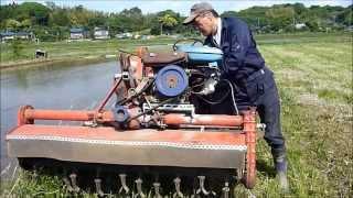 Repeat youtube video 農機改造 エンジン搭載ロータリーモア