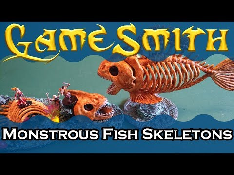 How To Build Monstrous Fish Skeletons For Your Tabletop Game (2019) GameSmith S03E007