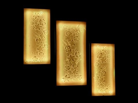 Light Up Wall Art flower canvas wall art tutorial - youtube
